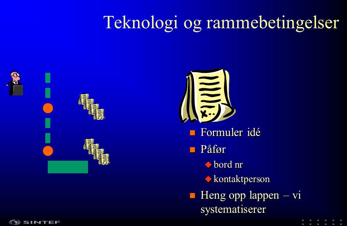 Teknologisk innovasjon NFR Deltakerne BIP 1 Teknologisk innovasjon – produkter for norsk havbruk i framtiden Strategisk forskningsagenda