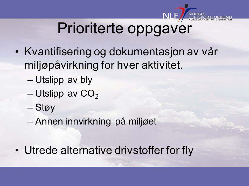 Prioriterte oppgaver •Kvantifisering og dokumentasjon av vår miljøpåvirkning for hver aktivitet.