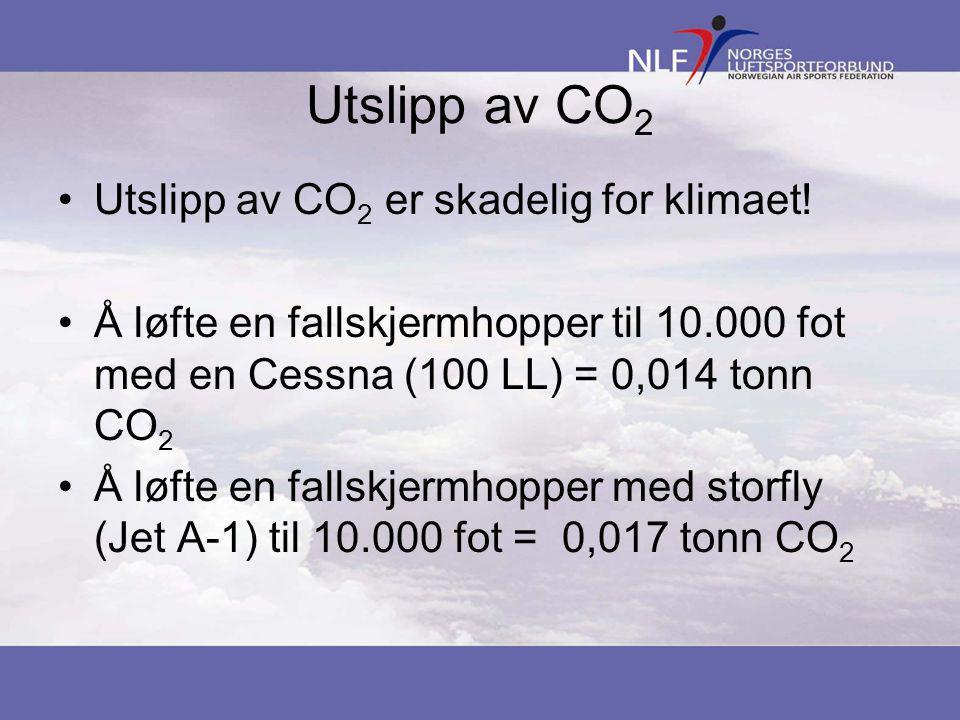 Utslipp av CO 2 •Utslipp av CO 2 er skadelig for klimaet.