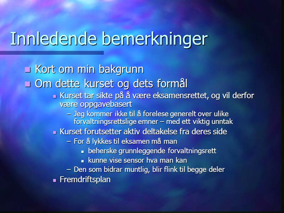 Kursoppgave i miljørett - II  Var de aktuelle vilkårene lovlige.