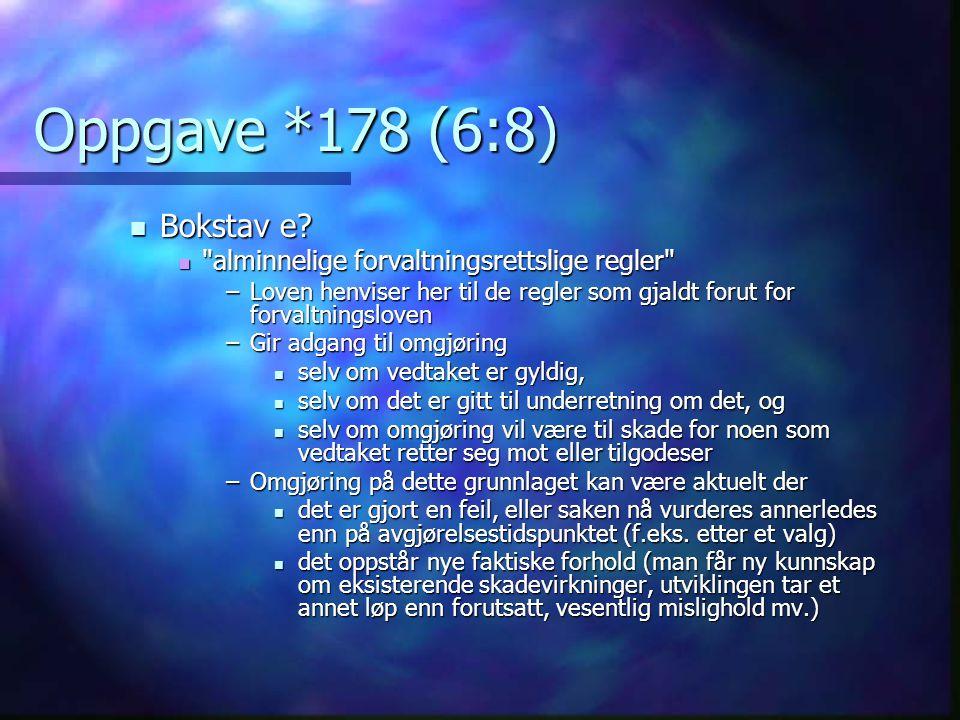 Oppgave *178 (6:8)  Bokstav e? 