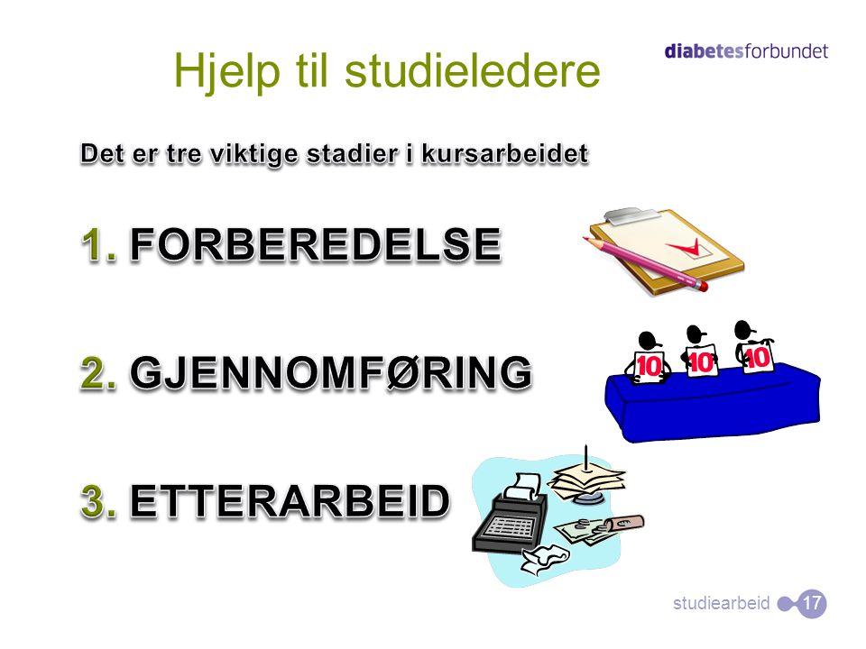 studiearbeid Hjelp til studieledere 17
