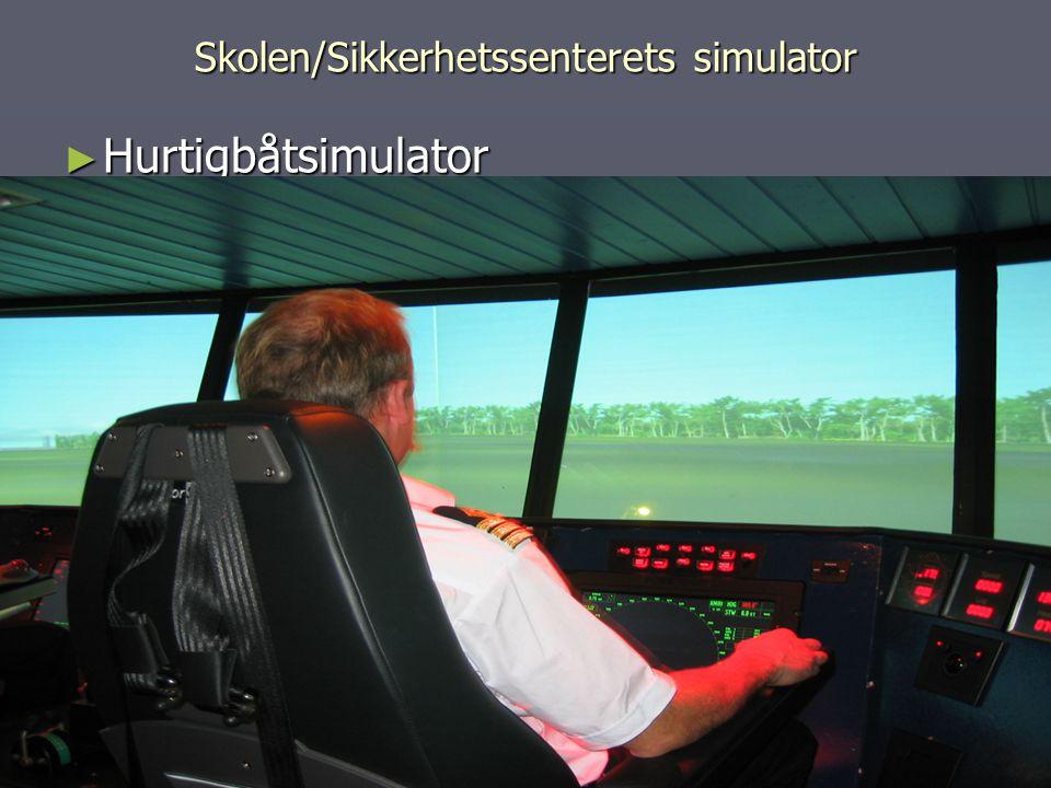 Skolen/Sikkerhetssenterets simulator ► Hurtigbåtsimulator