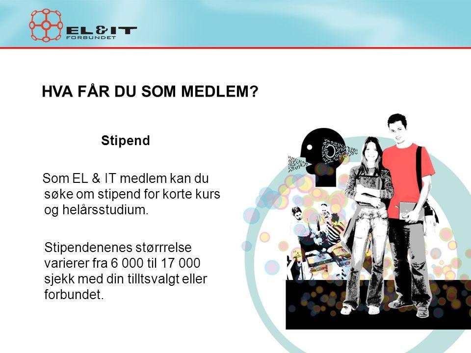 Stipend Som EL & IT medlem kan du søke om stipend for korte kurs og helårsstudium. Stipendenenes størrrelse varierer fra 6 000 til 17 000 sjekk med di