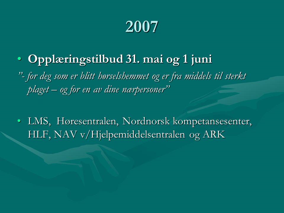 2007 •Opplæringstilbud 31.
