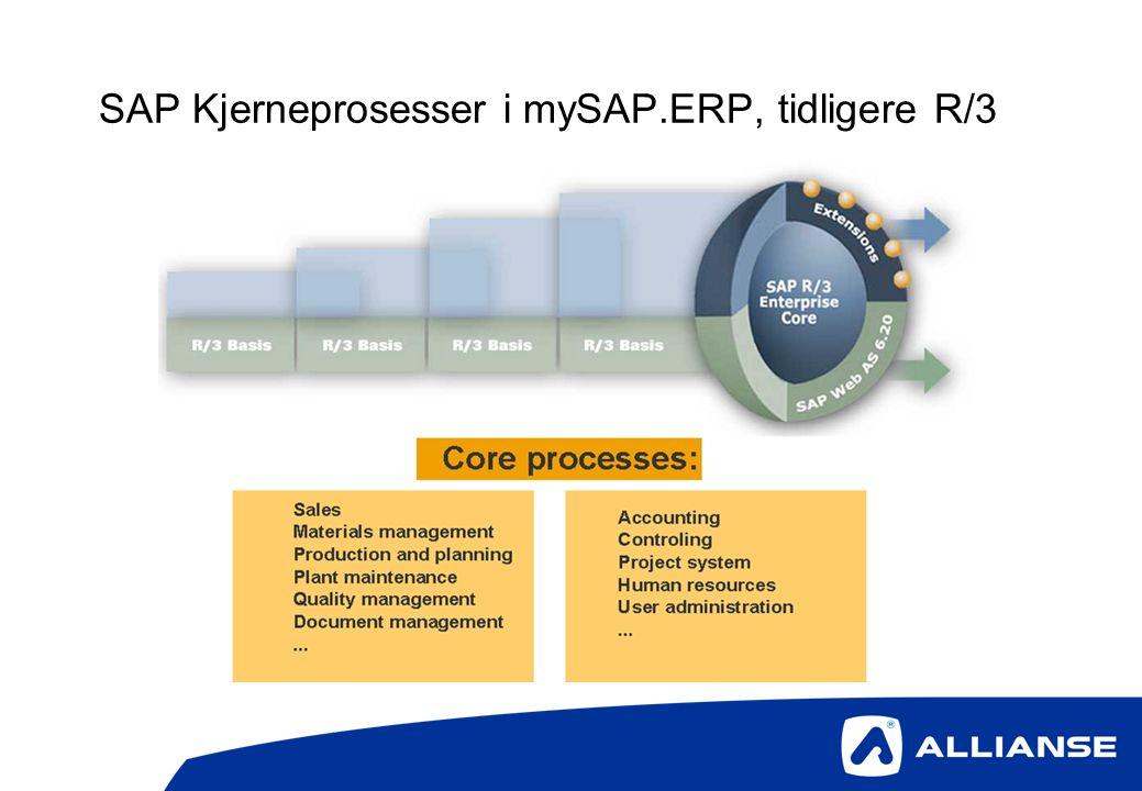 SAP skjermbildet.