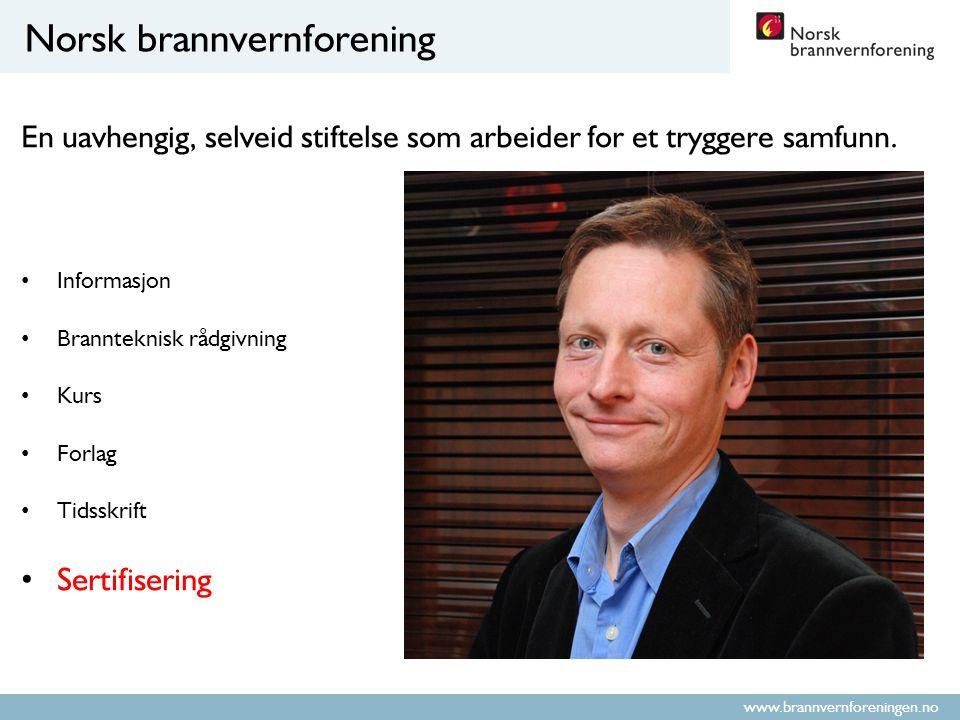 www.brannvernforeningen.no Hvordan bli sikkerhetsrådgiver.