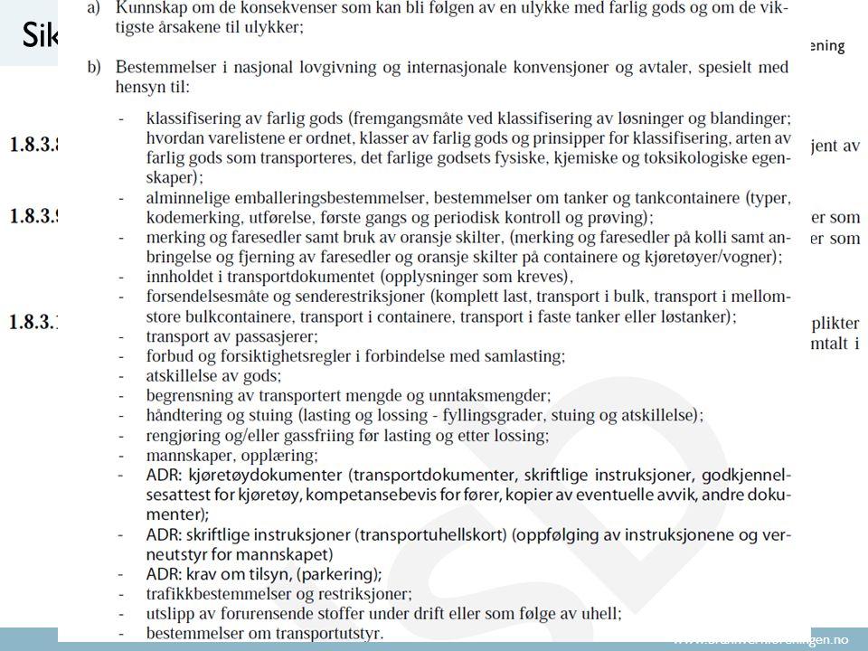 www.brannvernforeningen.no Sikkerhetsrådgivereksamen «Tilstrekkelige kunnskaper»?