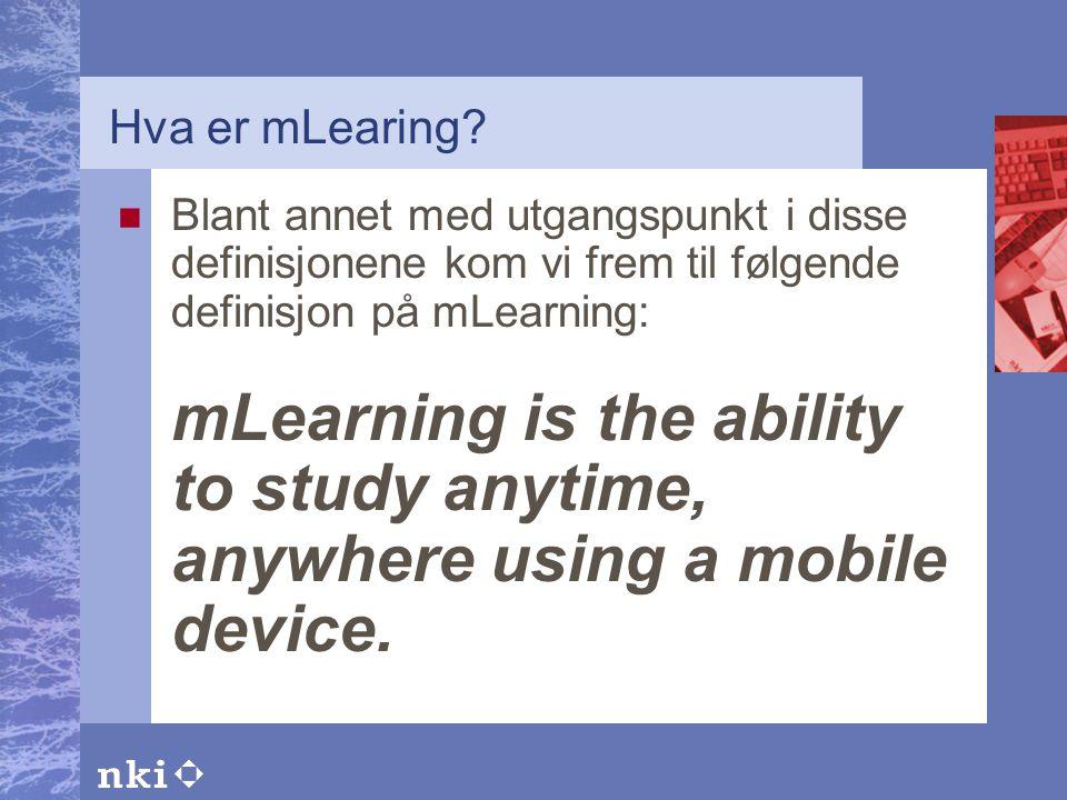 Hva er mLearing.