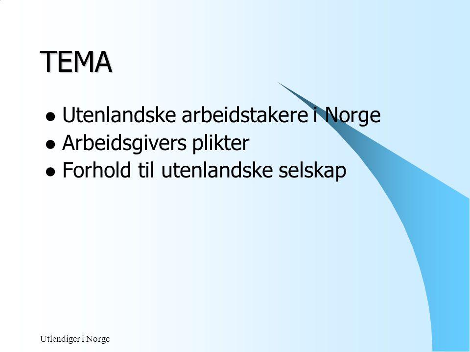 Utlendiger i Norge REGELVERKET REGELVERKET  Skatteloven  Skatteavtaler  Skattebetalingsloven  Forskuddtrekk § 5  Bestemmelser i nordisk trekkavtale