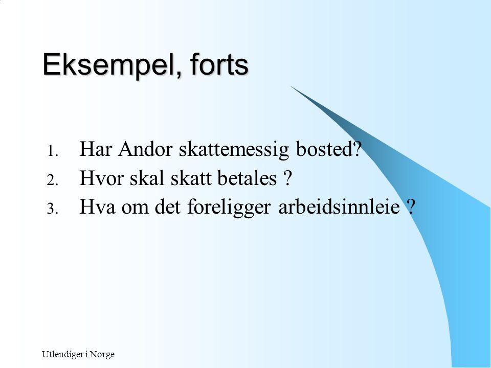 Utlendiger i Norge ARBEIDSGIVERS PLIKTER Ved ansettelse: - AA registeret - innhente skattekort - forskuddstrekk - avgiftsplikt Oppdatering ved endringer