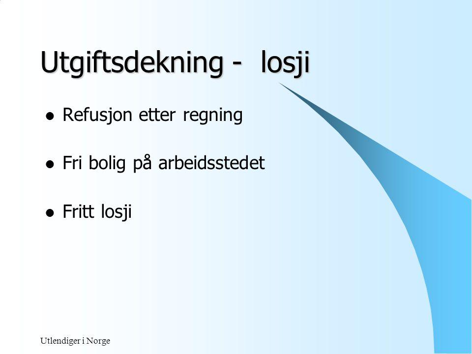 Utlendiger i Norge Utgiftsdekning - besøkereise  Ulegitimert godtgjørelse •Bilgodtgjørelse  trekk – avgiftsfritt med  kr 1,40 pr km inntil 35 000 km  kr 0,70 pr km utover 35 000 km Trekkfritak - reiseregning / kjøreoppgave