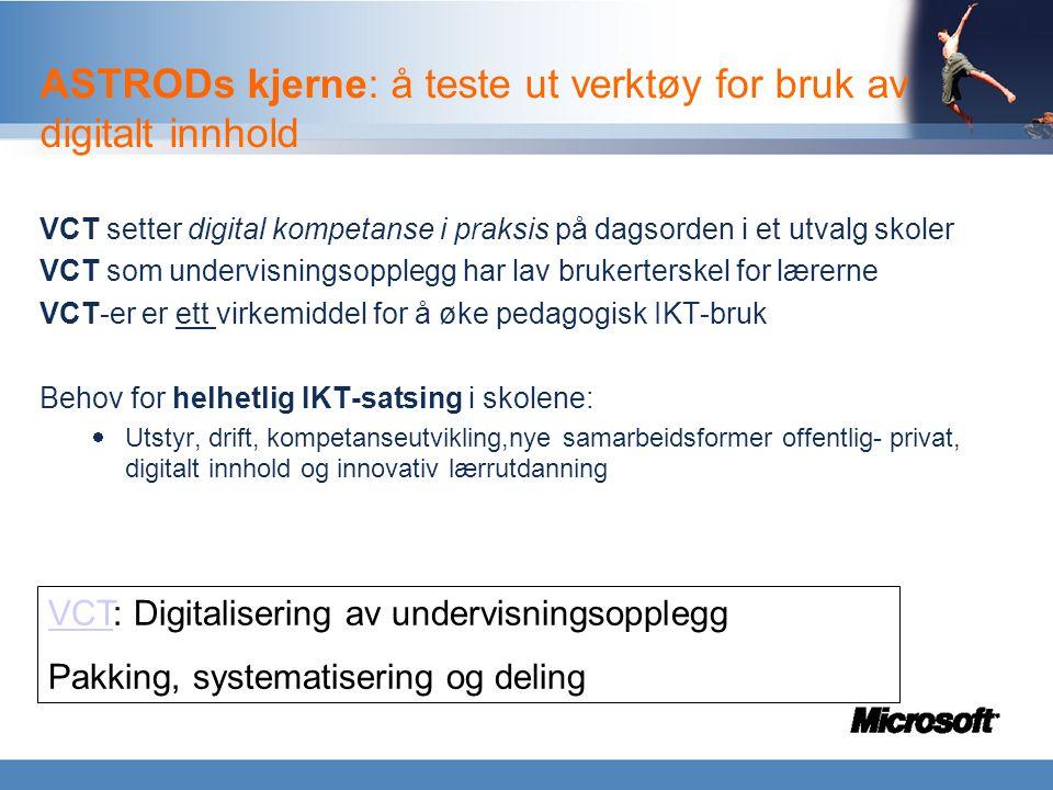 Demo VCT og skoleverktøyet