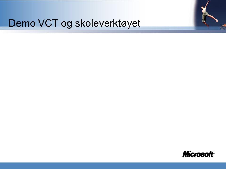 VCT Skole bruk 2 t Photo story Skole verktøy MSN/ Comunicator Kostnadseffektiv opplærings konsept med klare forventninger til kursdeltakerne.