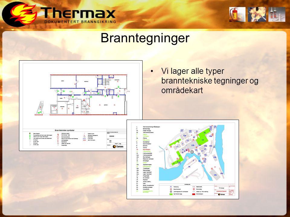 Branntegninger •Vi lager alle typer branntekniske tegninger og områdekart