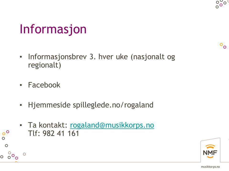 Informasjon • Informasjonsbrev 3.