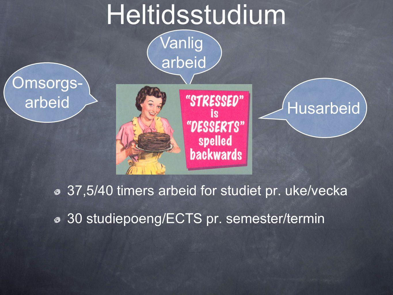 Heltidsstudium 2009- 2010 Høsten 2009: Kommunikasjon (10), Formfokus (10 studiepoeng) og Interkulturell læring (10 studiepoeng) Våren 2010: Litteratur (10 studiepoeng), Metode og prosjekt (20 studiepoeng)