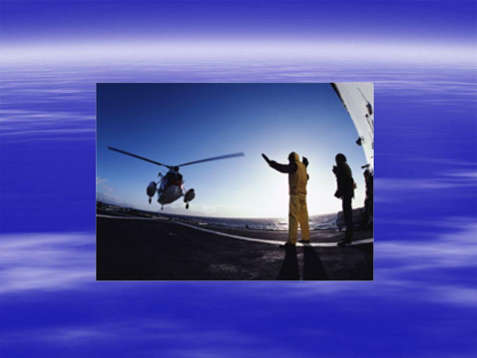 Helikopteret kommer  Avtale hvor oppheisingen skal skje fra  Seile vanligvis mot vinden med lav fart og stø kurs  Helikopter inn fra akter om babord  Opprette VHF samband