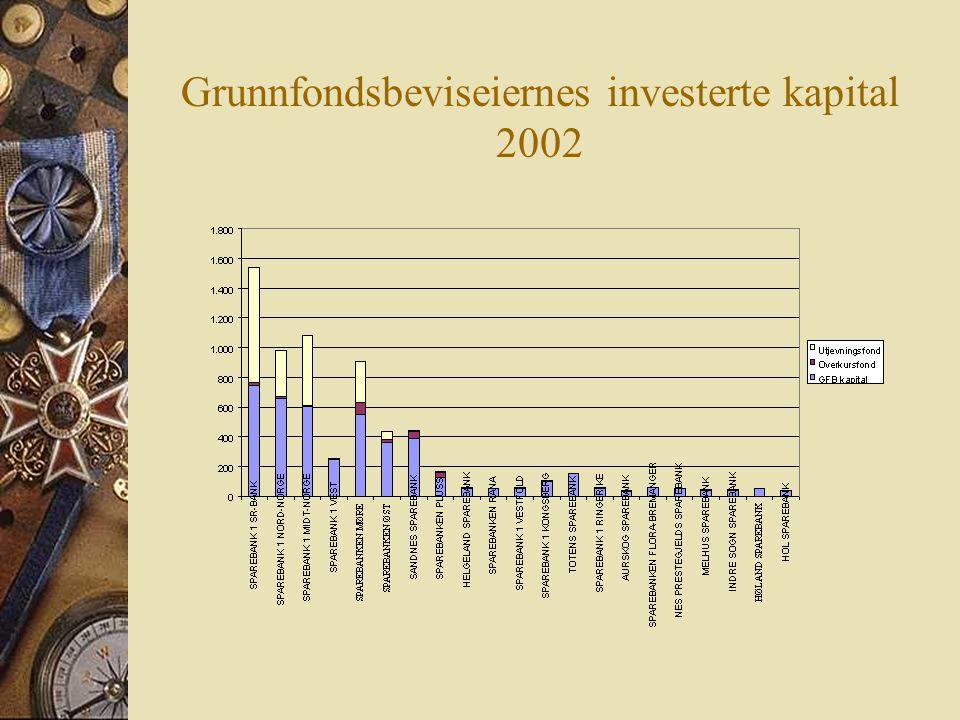 Grunnfondsbeviseiernes investerte kapital 2002