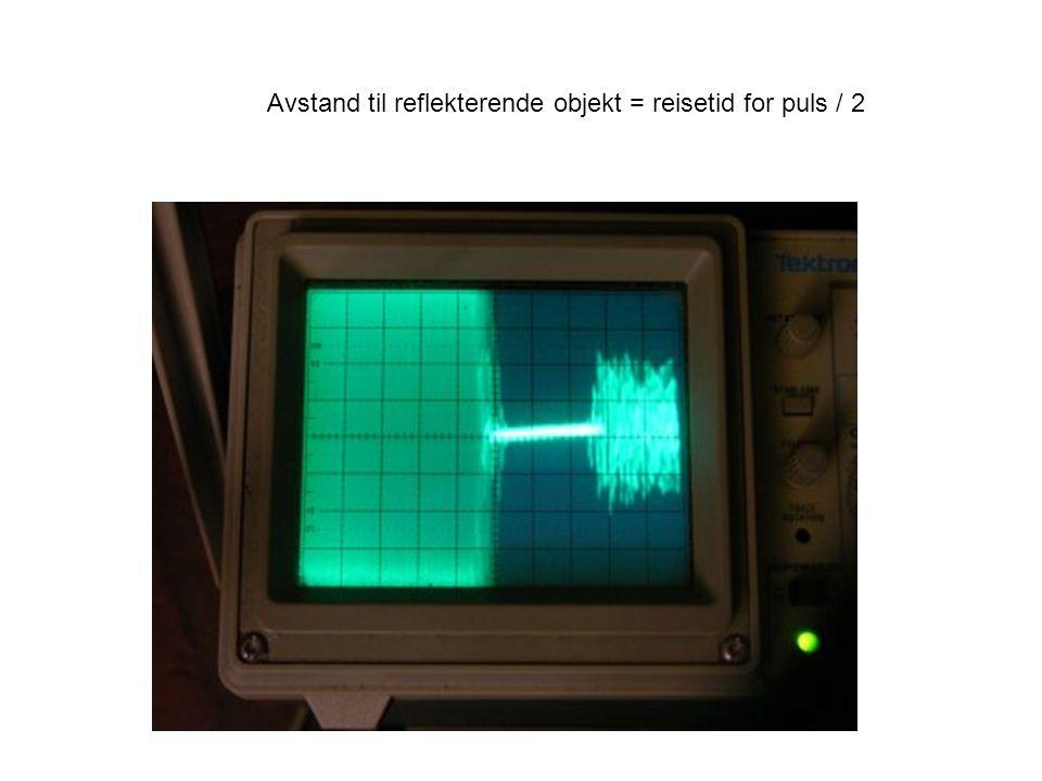 Avstand til reflekterende objekt = reisetid for puls / 2
