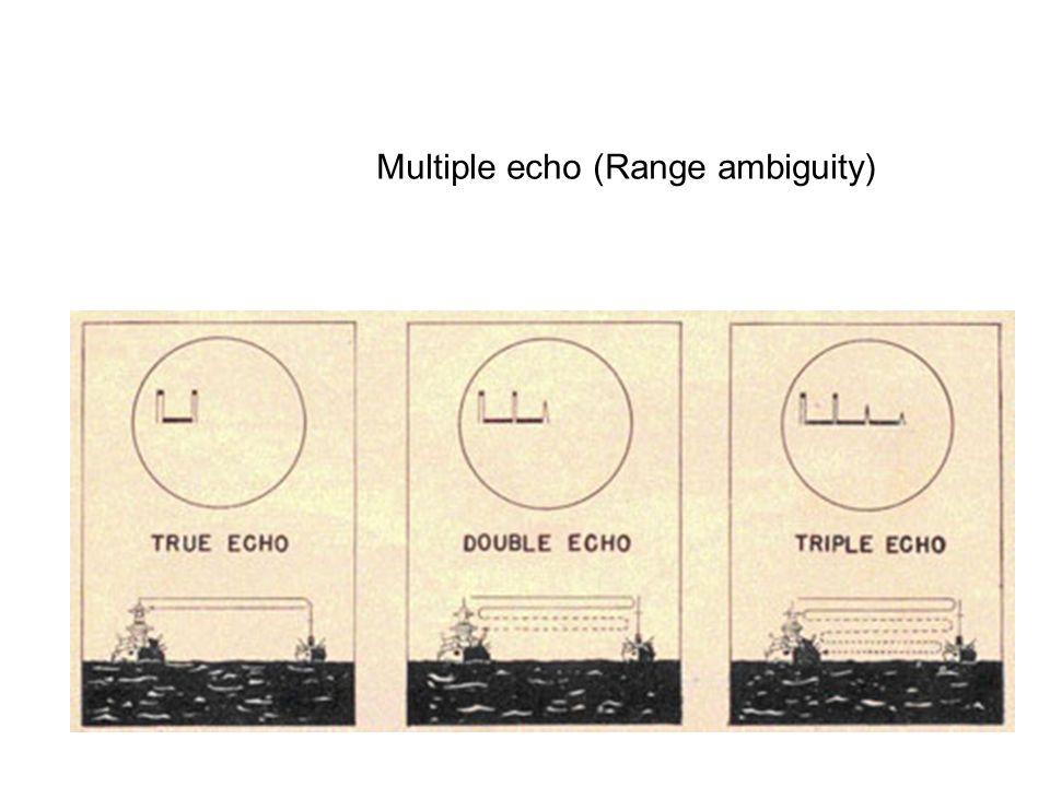 Multiple echo (Range ambiguity)