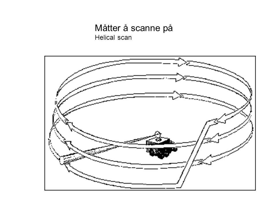 Måtter å scanne på Helical scan