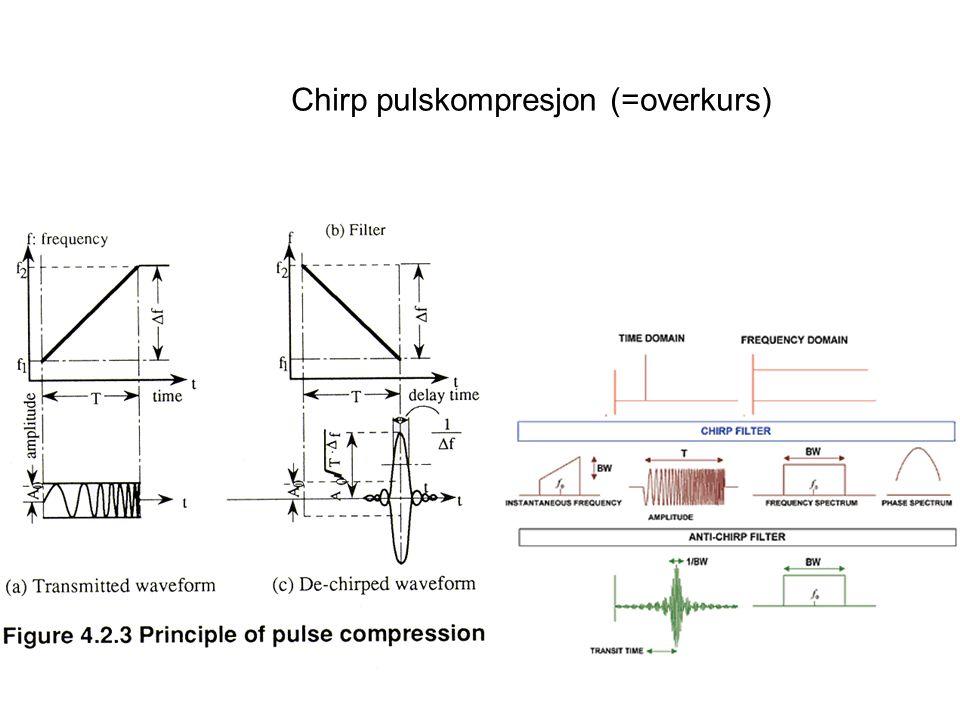 Chirp pulskompresjon (=overkurs)