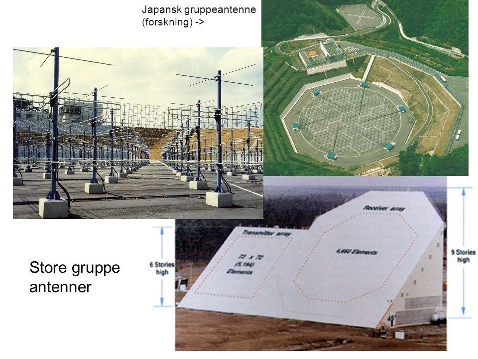 Store gruppe antenner Japansk gruppeantenne (forskning) ->