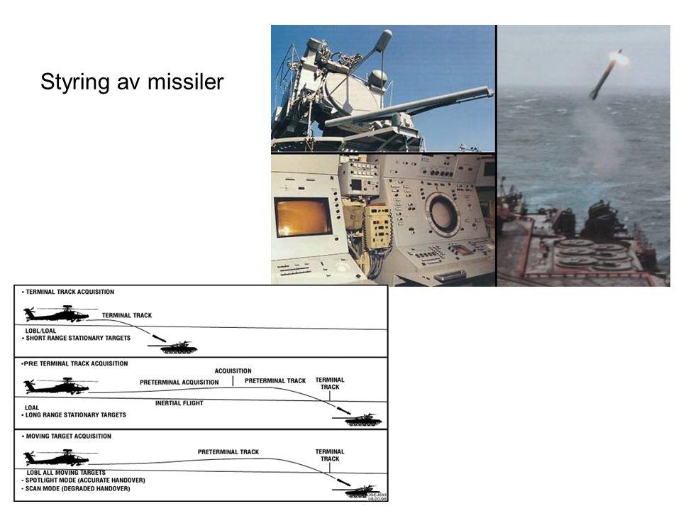 Styring av missiler