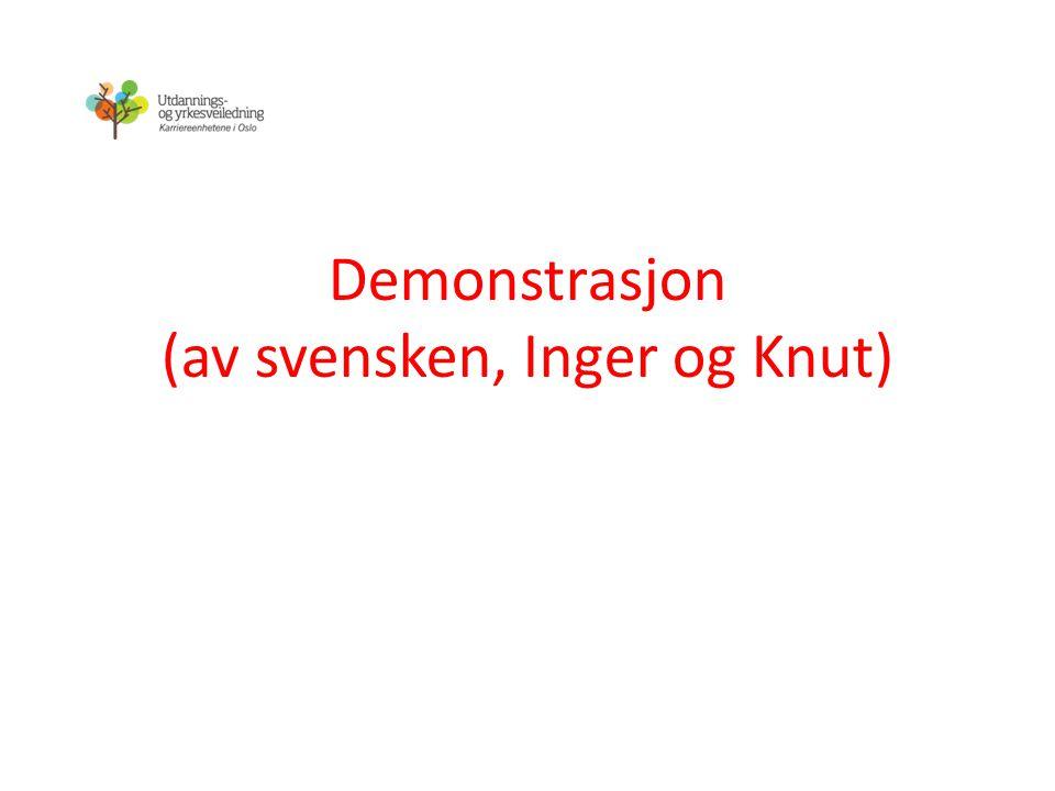 Demonstrasjon (av svensken, Inger og Knut)