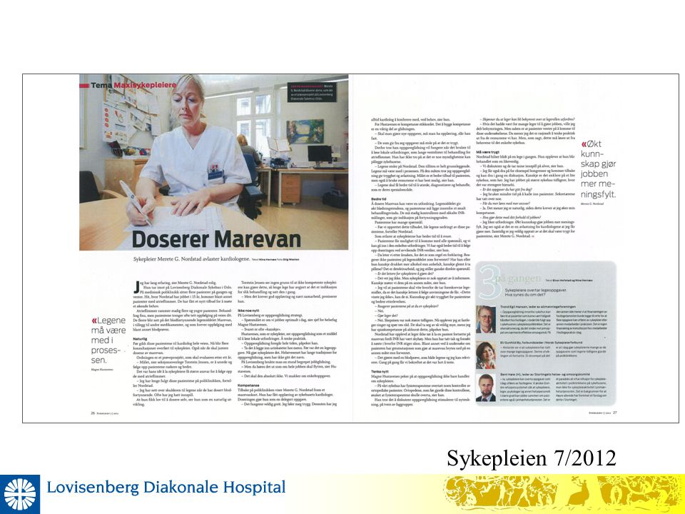 Sykepleien 7/2012