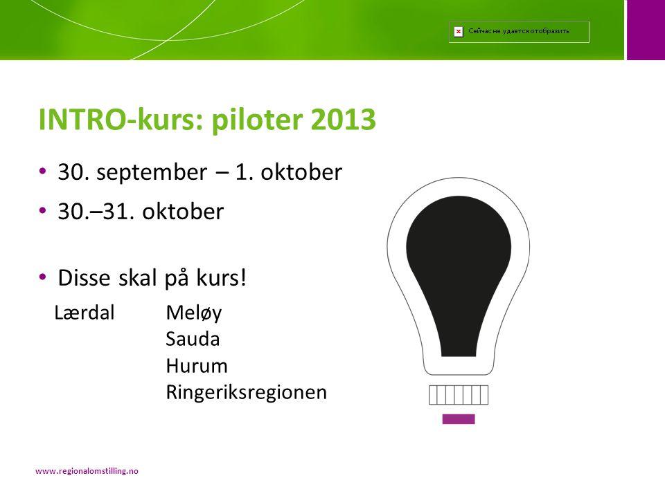 • 30.september – 1. oktober • 30.–31. oktober • Disse skal på kurs.