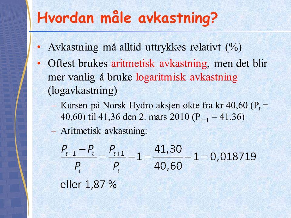 Norsk Hydro og Orkla - korrelasjon