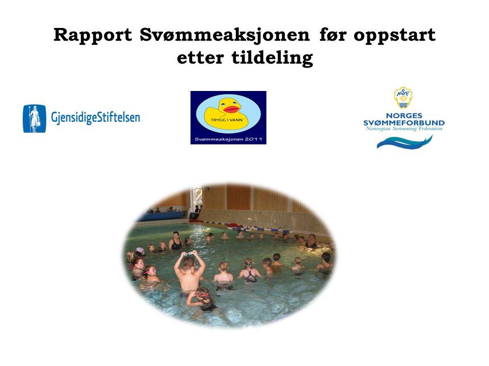 Rapport Svømmeaksjonen før oppstart etter tildeling