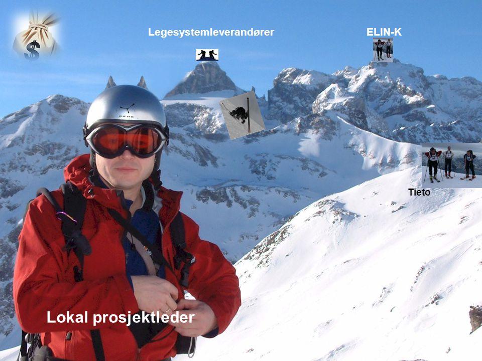 15 Lokal prosjektleder Tieto ELIN-KLegesystemleverandører