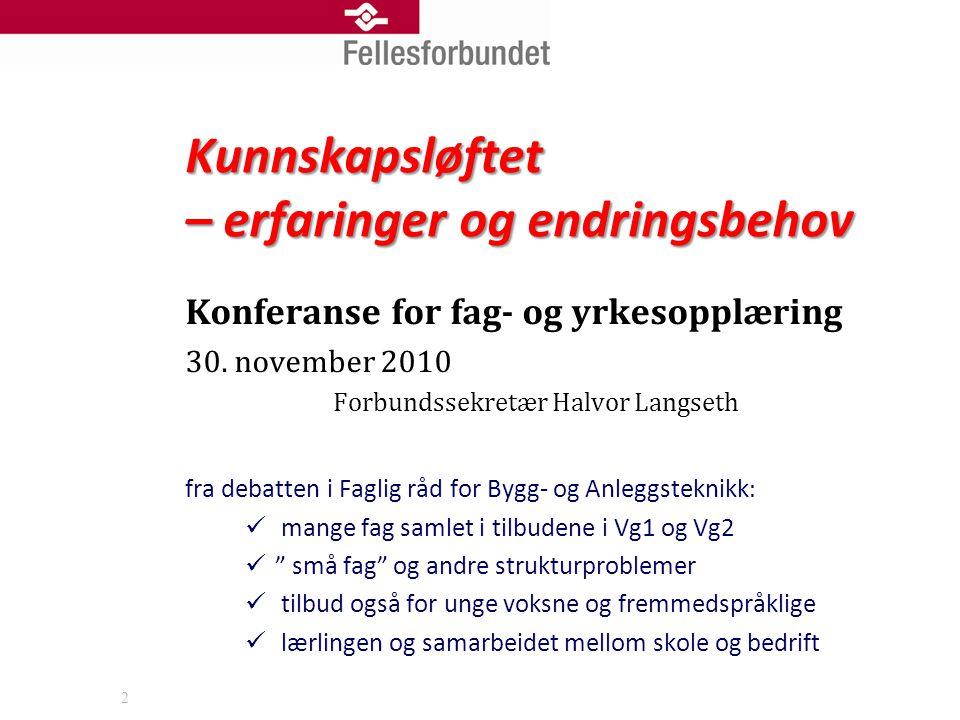 2 Konferanse for fag- og yrkesopplæring 30.