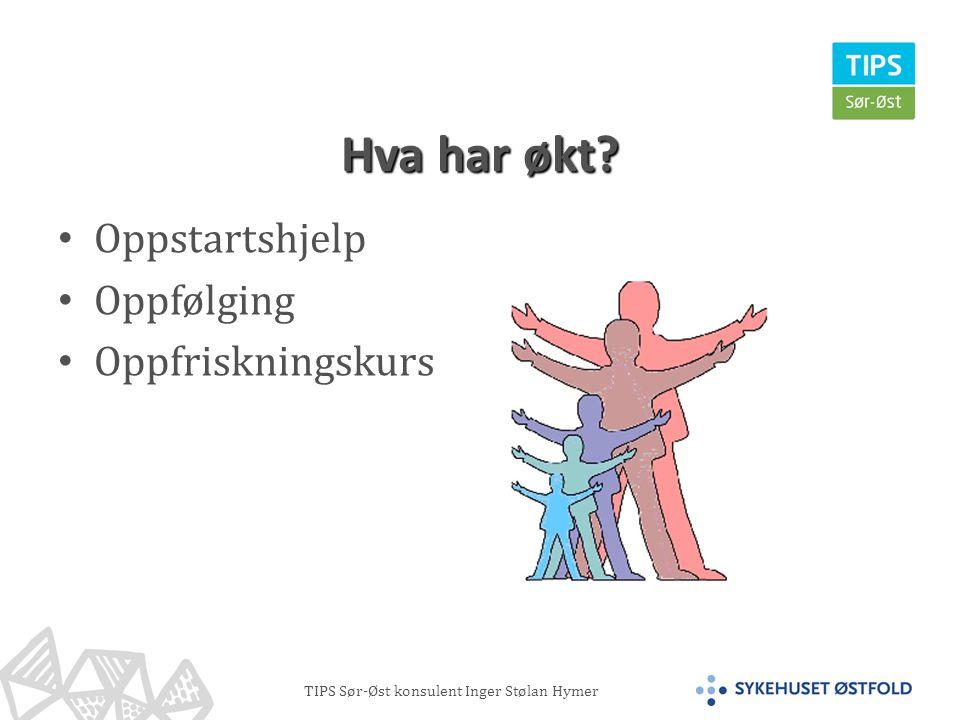 TIPS Sør-Øst konsulent Inger Stølan Hymer Hva har økt.