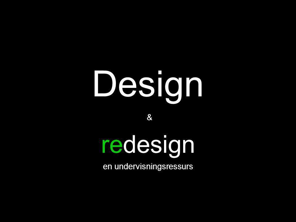 Bakgrunn •Personlig engasjement •InPed •Aktuelt tema: Design og redesign •Konsept •Designprosess •Et fiktivt oppdrag