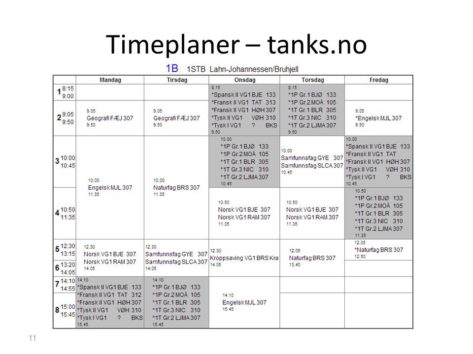 Timeplaner – tanks.no 11
