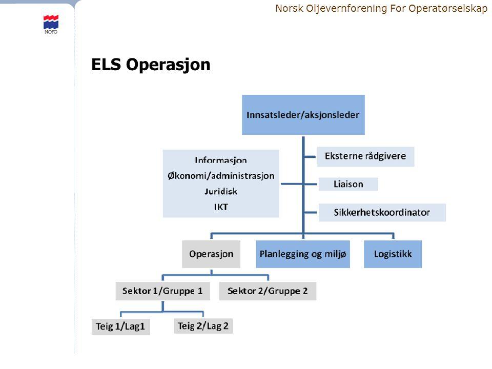 Norsk Oljevernforening For Operatørselskap ELS Operasjon
