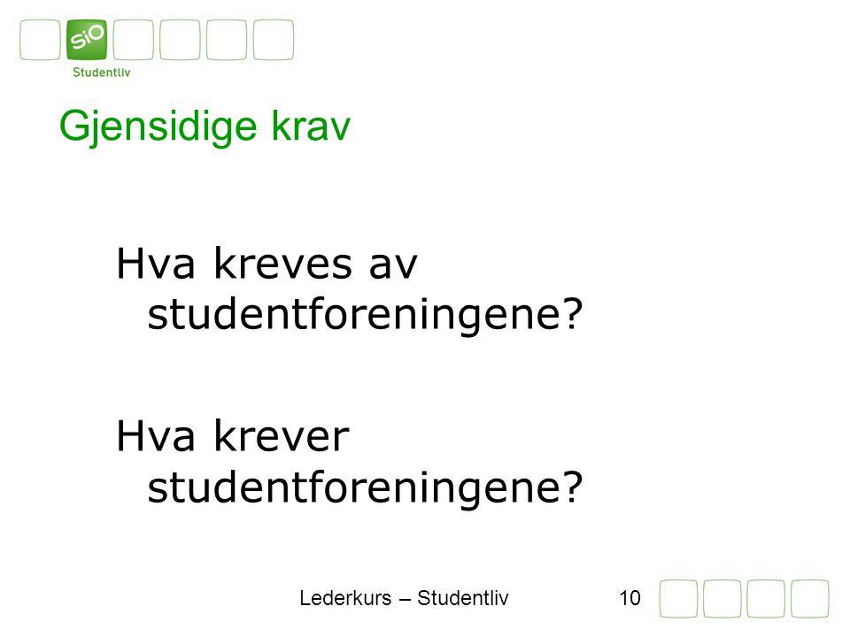 Lederkurs – Studentliv9 Hva definerer våre rammer.