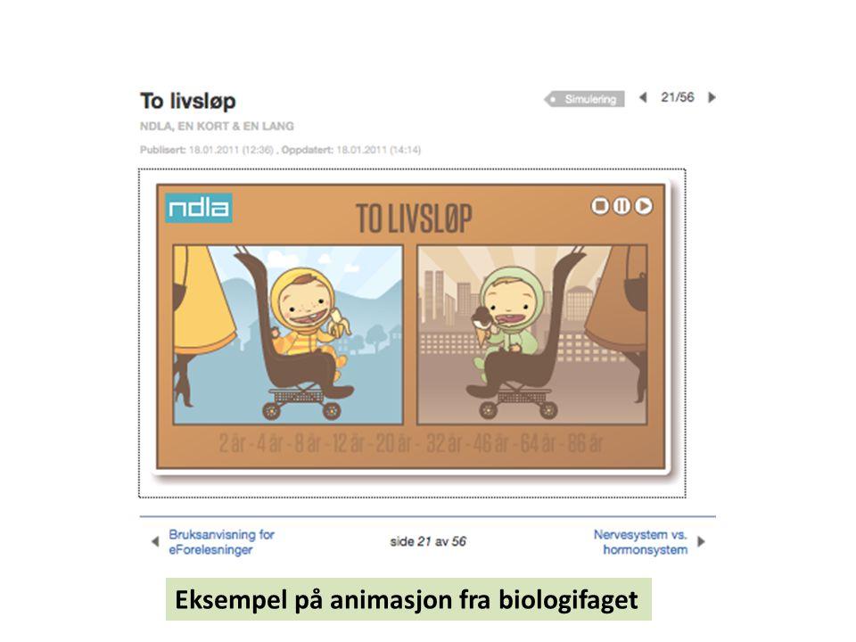 Eksempel på animasjon fra biologifaget