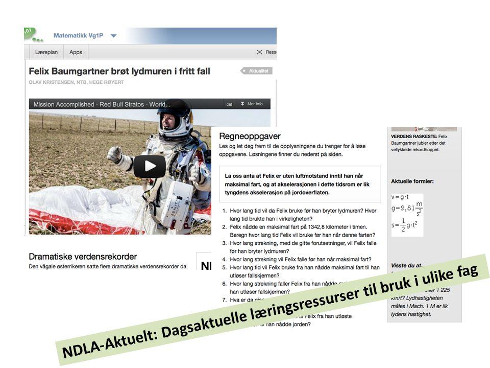 NDLA-Aktuelt: Dagsaktuelle læringsressurser til bruk i ulike fag