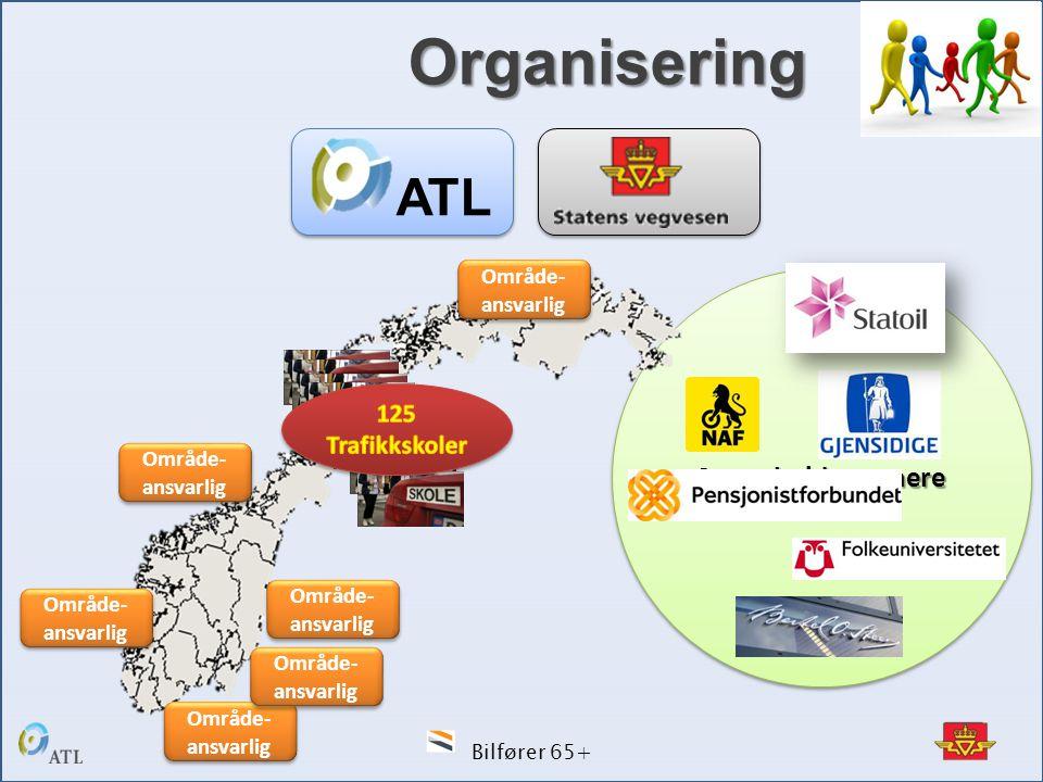 Bilfører 65+ SamarbeidspartnereSamarbeidspartnere Område- ansvarlig ATL Organisering