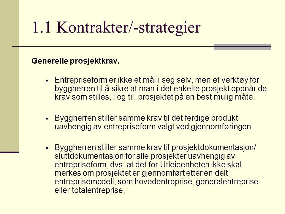 1.2 Kontrakter/-strategier forts.