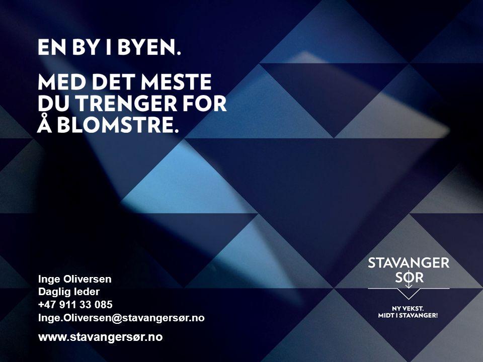 www.stavangersør.no Inge Oliversen Daglig leder +47 911 33 085 Inge.Oliversen@stavangersør.no