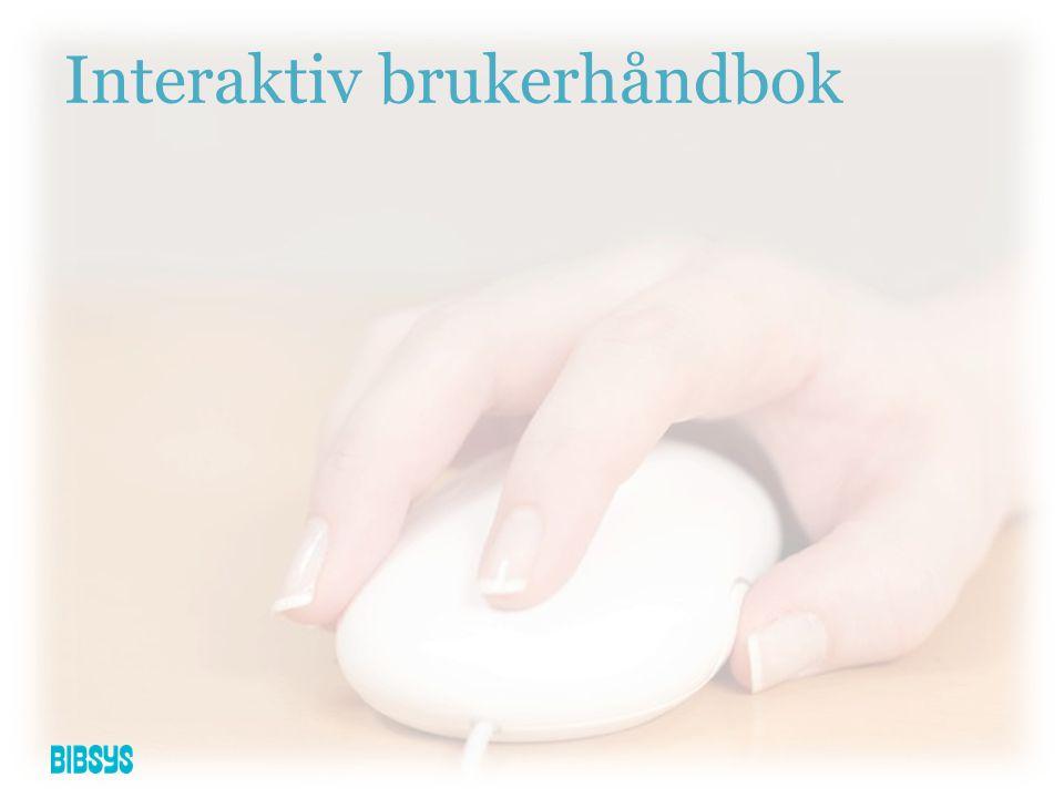 Interaktiv brukerhåndbok