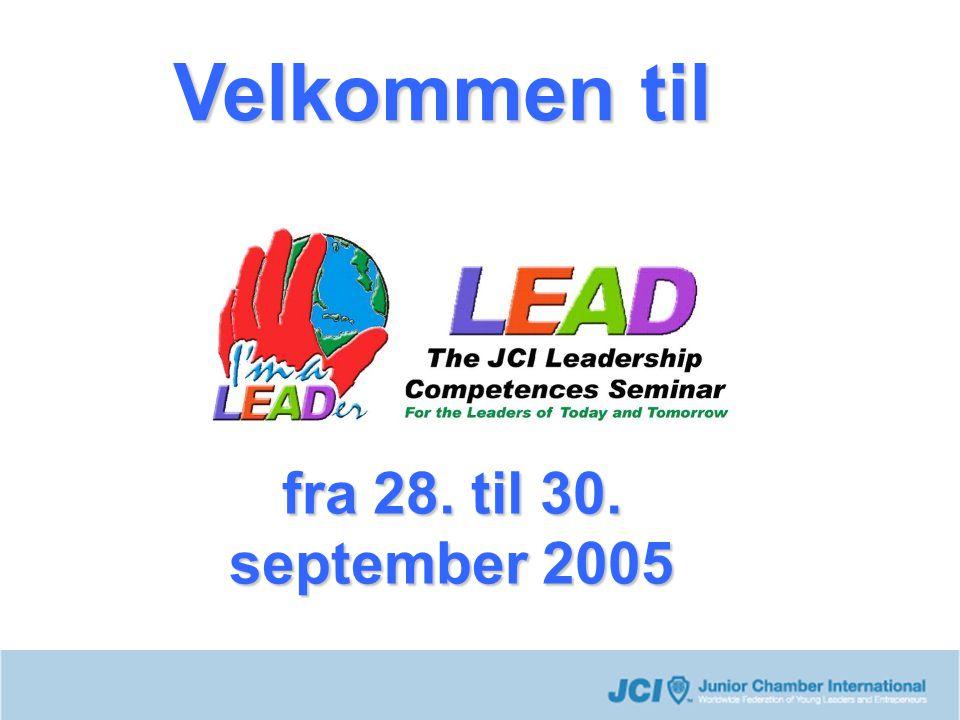 fra 28. til 30. september 2005 Velkommen til