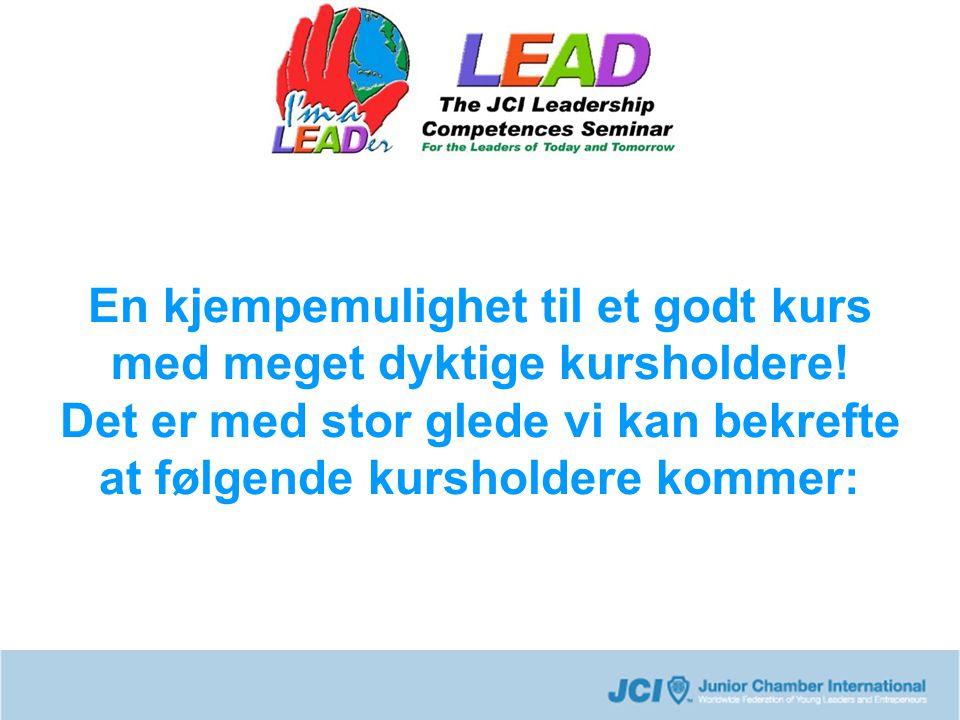 Fernando Sanchez-Arias Head Trainer Fernando Sanchez-Arias er hoveddesigneren av LEAD The hand , eller The five roles of a JCI leader .
