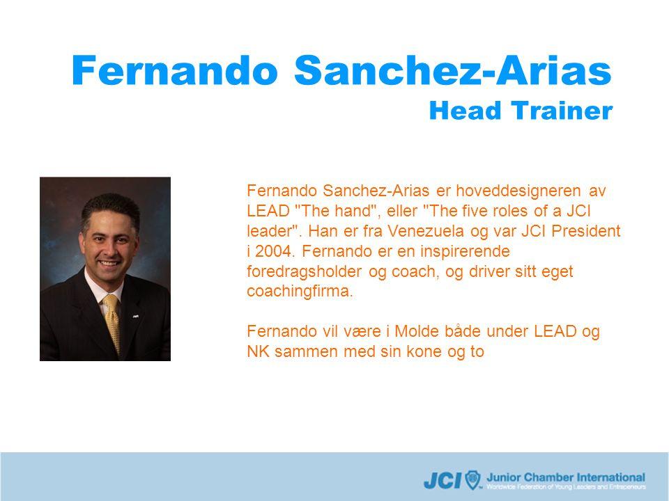 Fernando Sanchez-Arias Head Trainer Fernando Sanchez-Arias er hoveddesigneren av LEAD